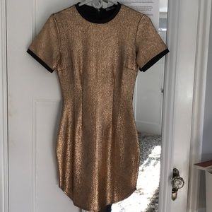Misguided gold dress